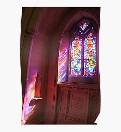 A Streaming Stained Glass Window Poster