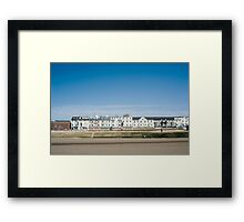 Blackpool seafront guest houses Framed Print