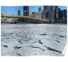Icy Pittsburgh Poster