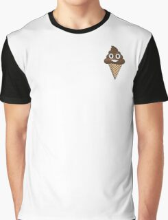 Poop Emoji Ice Cream Graphic T-Shirt