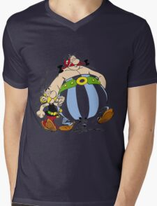 asterix Mens V-Neck T-Shirt
