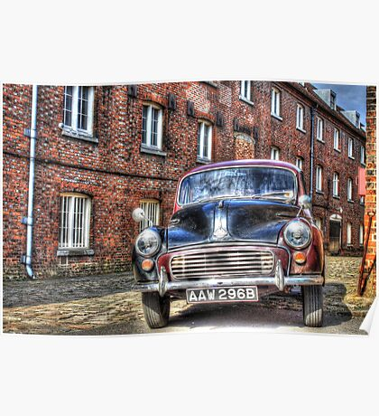 Call The Midwife Street Film Set Morris Minor Car Poster