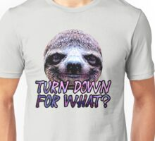 Turn Down For What? Sloth Unisex T-Shirt