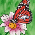 Denver Broncos Butterfly by StephenLTurner
