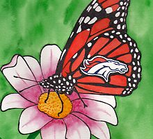 Denver Broncos Butterfly by StephenLTurner