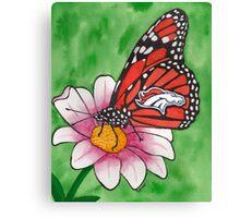 Denver Broncos Butterfly Canvas Print