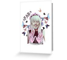 steve buscemi is a pastel goth girl Greeting Card