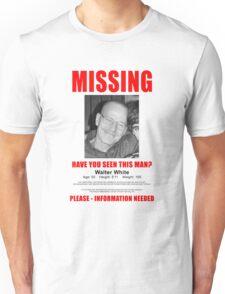 "Breaking Bad ""Missing"" Poster Unisex T-Shirt"