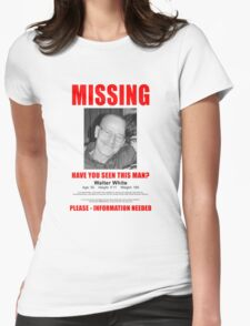 "Breaking Bad ""Missing"" Poster Womens Fitted T-Shirt"