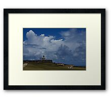 Dramatic Tropical Sky Over Old San Juan, Puerto Rico Framed Print
