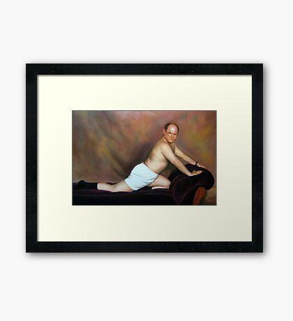 George pose Framed Print