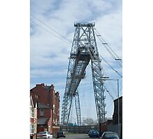 Steel span Newport Transporter Bridge Photographic Print
