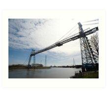 Historic Transporter Bridge, Newport, Wales Art Print