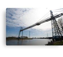 Historic Transporter Bridge, Newport, Wales Canvas Print