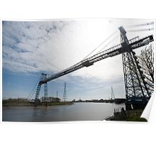 Historic Transporter Bridge, Newport, Wales Poster