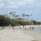 Beach Fun! Bribie Island, Queensland. by Rita Blom