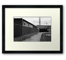 Baseball Field & Bull Durham Sign Framed Print