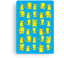 Silly electric pokemon Pikachu Canvas Print