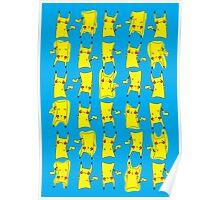 Silly electric pokemon Pikachu Poster