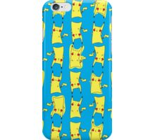 Silly electric pokemon Pikachu iPhone Case/Skin