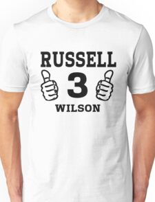 Russell Wilson Seattle Seahawks Quarterback No. 3 Unisex T-Shirt