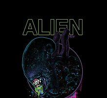 ALIEN XENOMORPH HORROR by VIDIOT