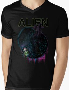 ALIEN XENOMORPH HORROR Mens V-Neck T-Shirt