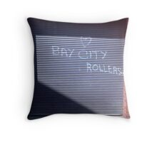 Bay CIty Rollers Throw Pillow