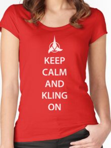 Keep Calm and Klingon Women's Fitted Scoop T-Shirt