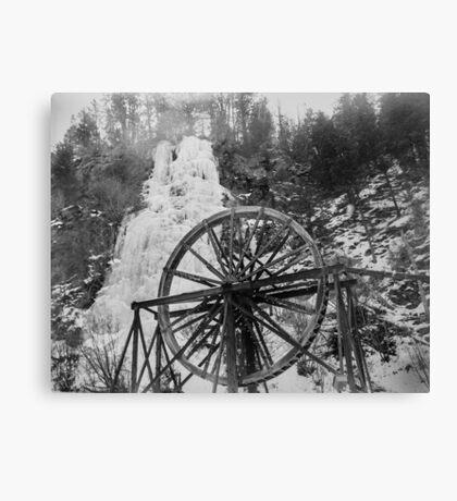 colorado frozen waterfall, waterwheel film Canvas Print