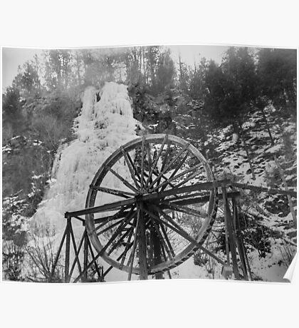 colorado frozen waterfall, waterwheel film Poster