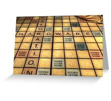 Scrabble Greeting Card