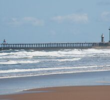 View of Whitby breakwater by photoeverywhere