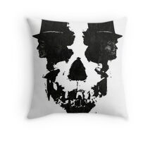 Skull of Jekyll/Hyde Throw Pillow