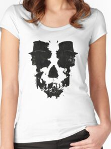 Skull of Jekyll/Hyde Women's Fitted Scoop T-Shirt