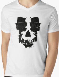 Skull of Jekyll/Hyde Mens V-Neck T-Shirt