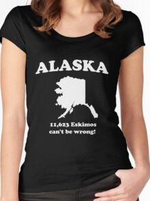 Alaska. 11,623 Eskimos can't be wrong Women's Fitted Scoop T-Shirt