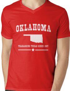 Oklahoma. Teabagging Texas Mens V-Neck T-Shirt