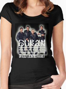 Duran Duran Band Paper Gods Tour Women's Fitted Scoop T-Shirt