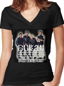 Duran Duran Band Paper Gods Tour Women's Fitted V-Neck T-Shirt
