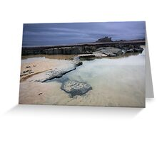 Bamburgh Beach Greeting Card