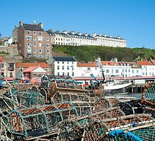Lobster pots in Whitby, North Yorkshire by photoeverywhere