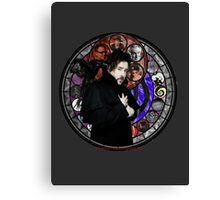 Tim Burton Stained Glass Canvas Print
