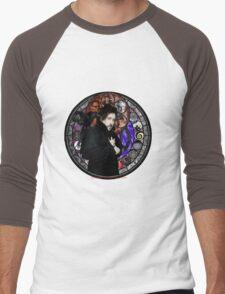 Tim Burton Stained Glass Men's Baseball ¾ T-Shirt