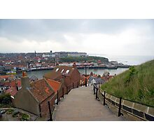 View of Whitby Harbour Photographic Print