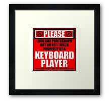 Please Do Not Touch Property Of A Keyboard Player Framed Print