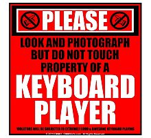 Please Do Not Touch Property Of A Keyboard Player Photographic Print