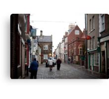 Church street in Whitby Canvas Print