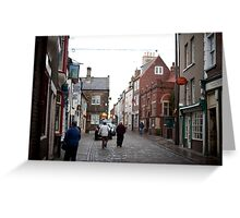 Church street in Whitby Greeting Card