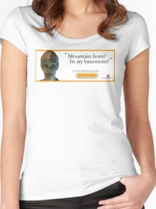 Mountain Lions, in My Basement? Women's Fitted Scoop T-Shirt